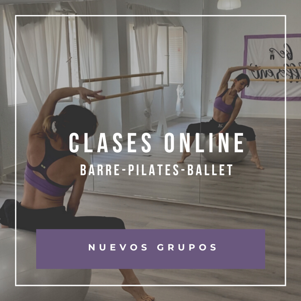 nuevo grupos de clases online de barre, pilates y ballet