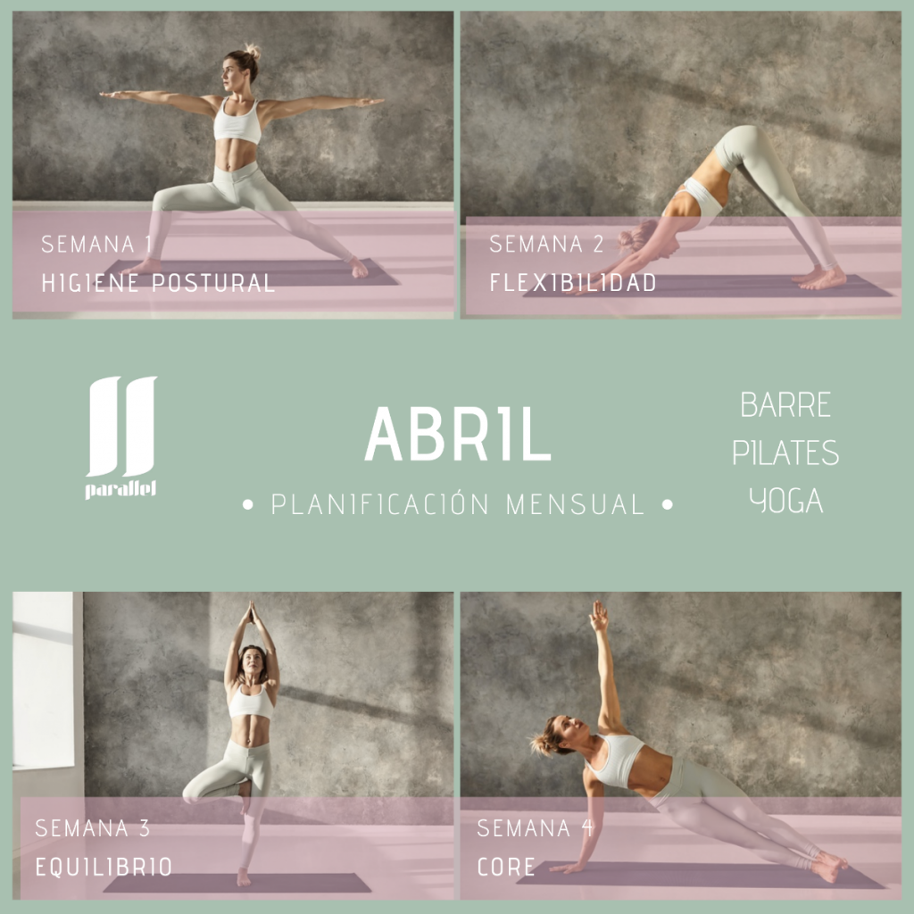 Programa de ejercicios para el mes de abril