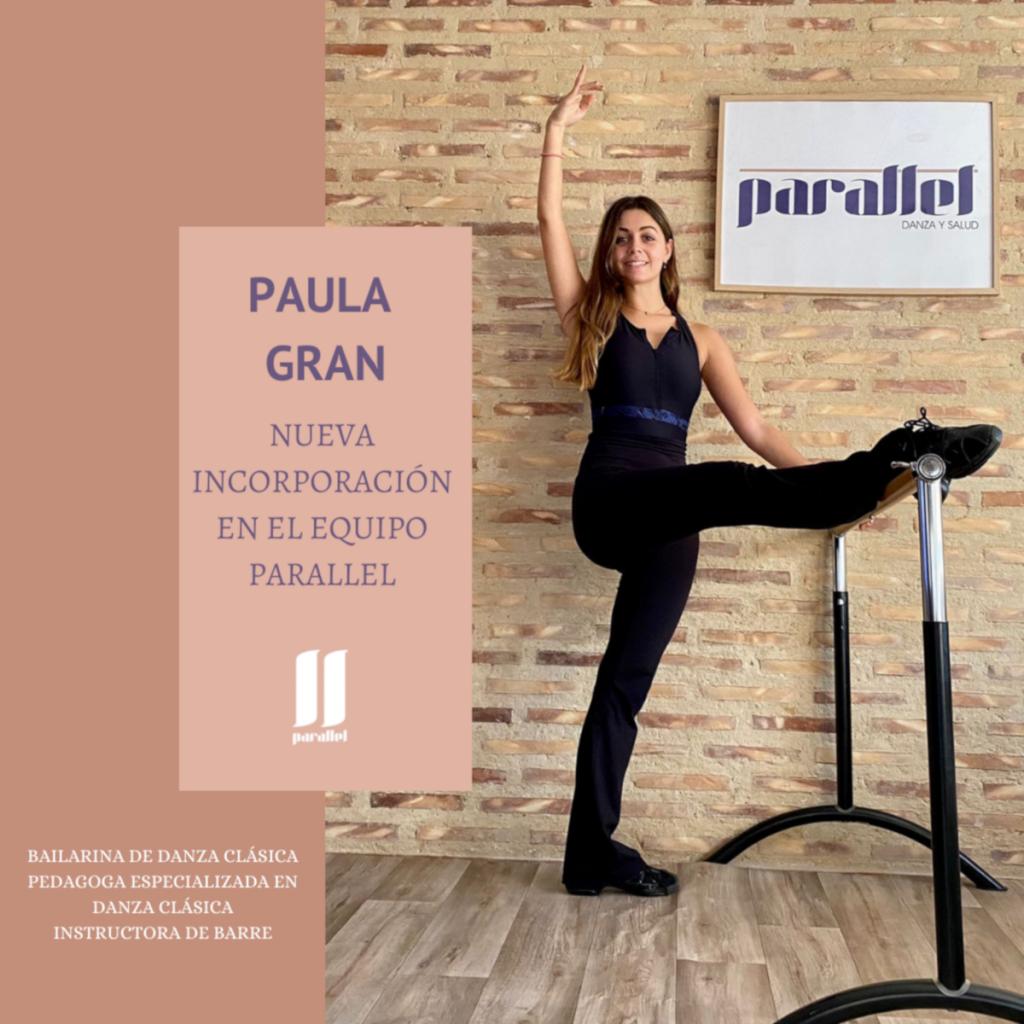 nueva profesora de ballet y barre Paula Gran